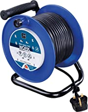 Masterplug LDCC3013/4BL 30 m 4 Socket 13 A Open Cable Reel with Thermal Cut Out and Reset Button