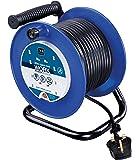 Masterplug LDCC3013/4BL 13amp 4 Socket 30m Open Cable Reel - Blue
