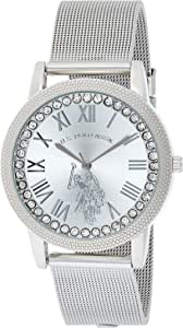 U.S. Polo Assn. Women's Analog-Quartz Watch with Alloy Strap, Silver, 18 (Model: USC40109)