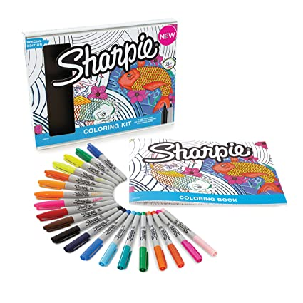 Sharpie 1989554 Permanent Markers 10 Fine Ultra Tip Assorted Colors