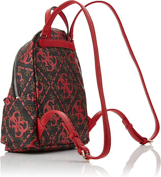 Guess Leeza Backpack femme Multicolore (Red Multi) 22x29x10