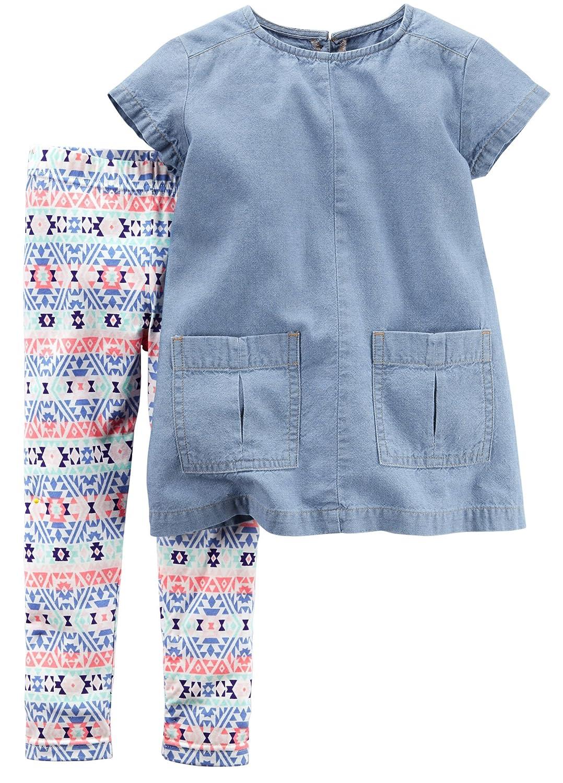 ファッションデザイナー Carter 's Girl Girl 's 2ピースChambray Top and Aztecレギンスセット( 9 2ピースChambray m m ) B01N1MBAR7, 【ネット限定】:69acbea3 --- a0267596.xsph.ru