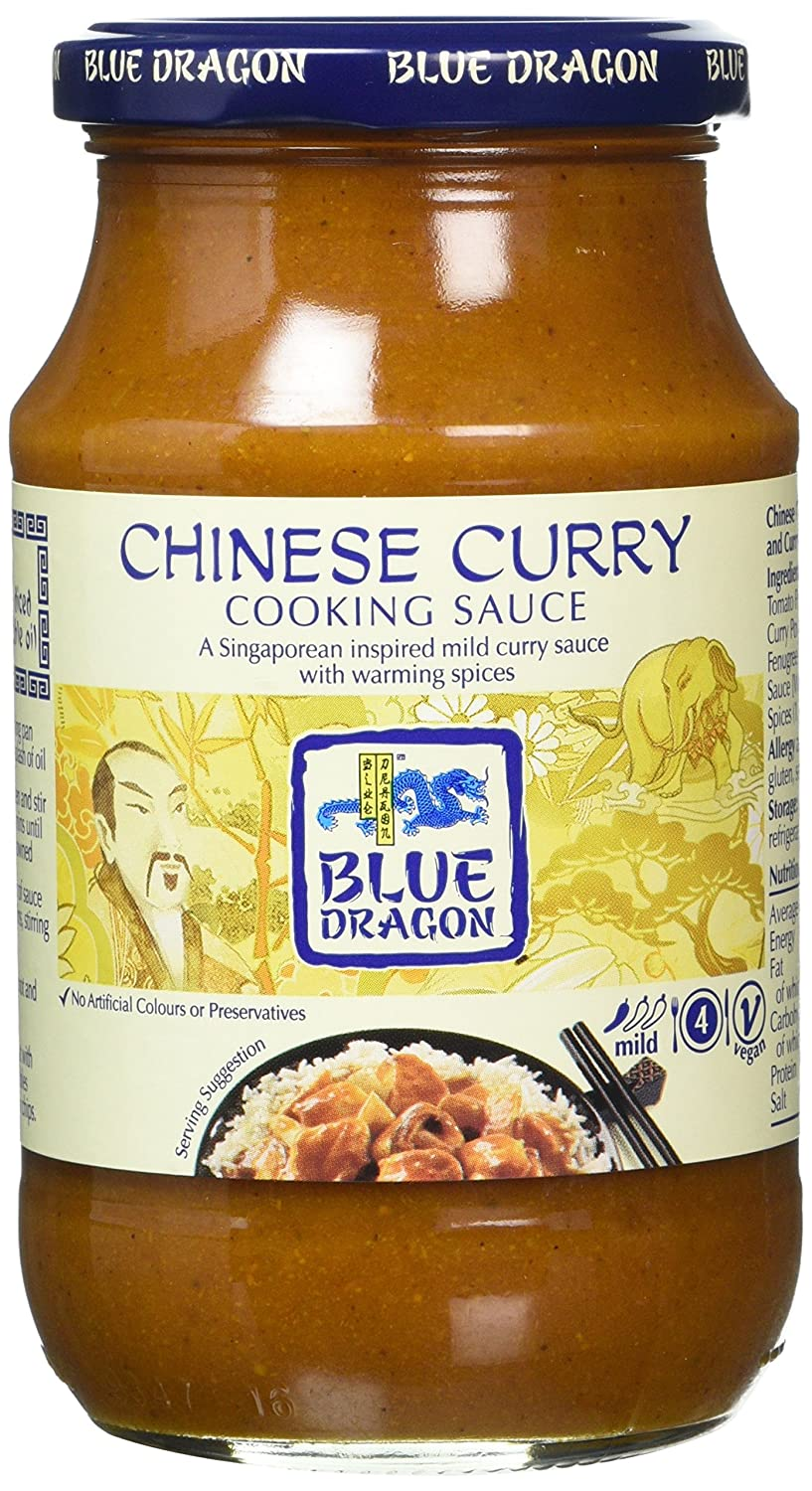 Blue Dragon Chinese Curry Cooking Sauce 425 G Pack Of 6
