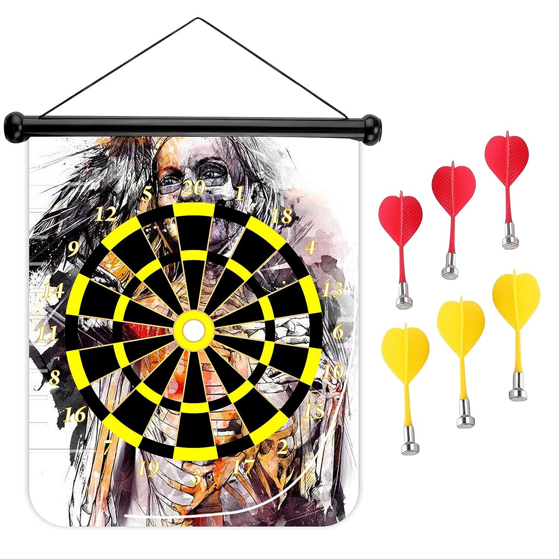 15インチMagnetic Dart Board Double Sided Hanging Dart Dart Dart Board Set Set and Bullseyeゲーム。Ravenスケルトン B079M6MBSF, スポーツ&カジュアル hiro:01c0b843 --- 2chmatome2.site