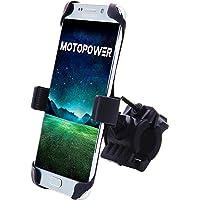 MOTOPOWER MP0616A a universel Vélo Moto téléphone support de fixation de montagne et route de vélo moto Guidon support de berceau téléphones – Peut contenir jusqu'à 9,4 cm de large – Noir