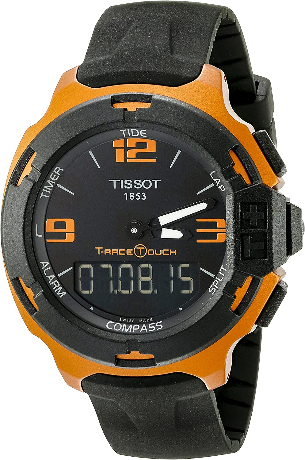 Tissot Men s T0814209705703 T-Race Touch Aluminum Watch with Black Band