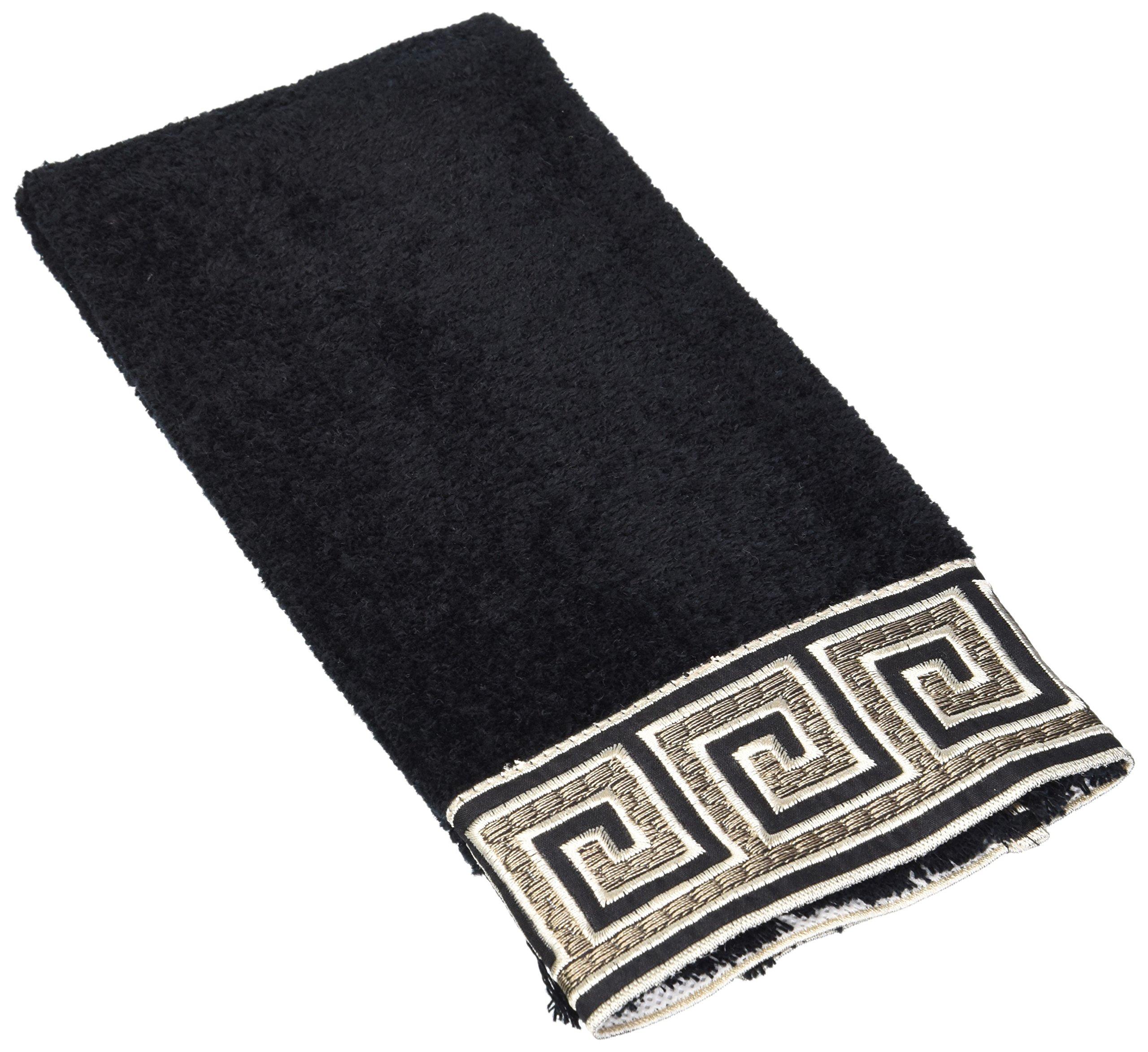 Avanti Linens Eternity Fingertip Towel, 11 by 18-Inch, Black