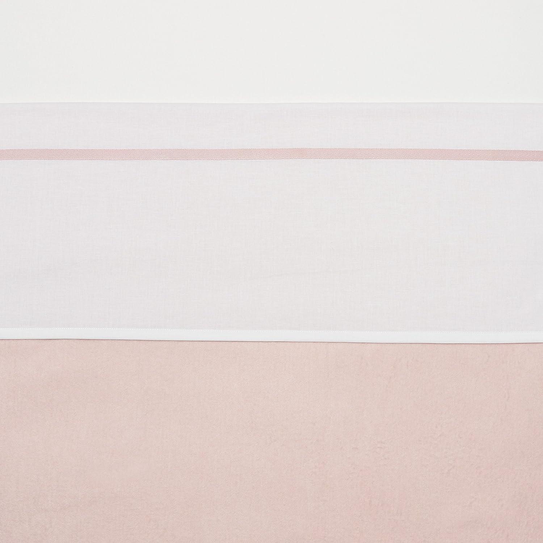 75 x 100 cm Meyco 413002 kleines Bettlaken mit Zierrand hellrosa//wei/ß