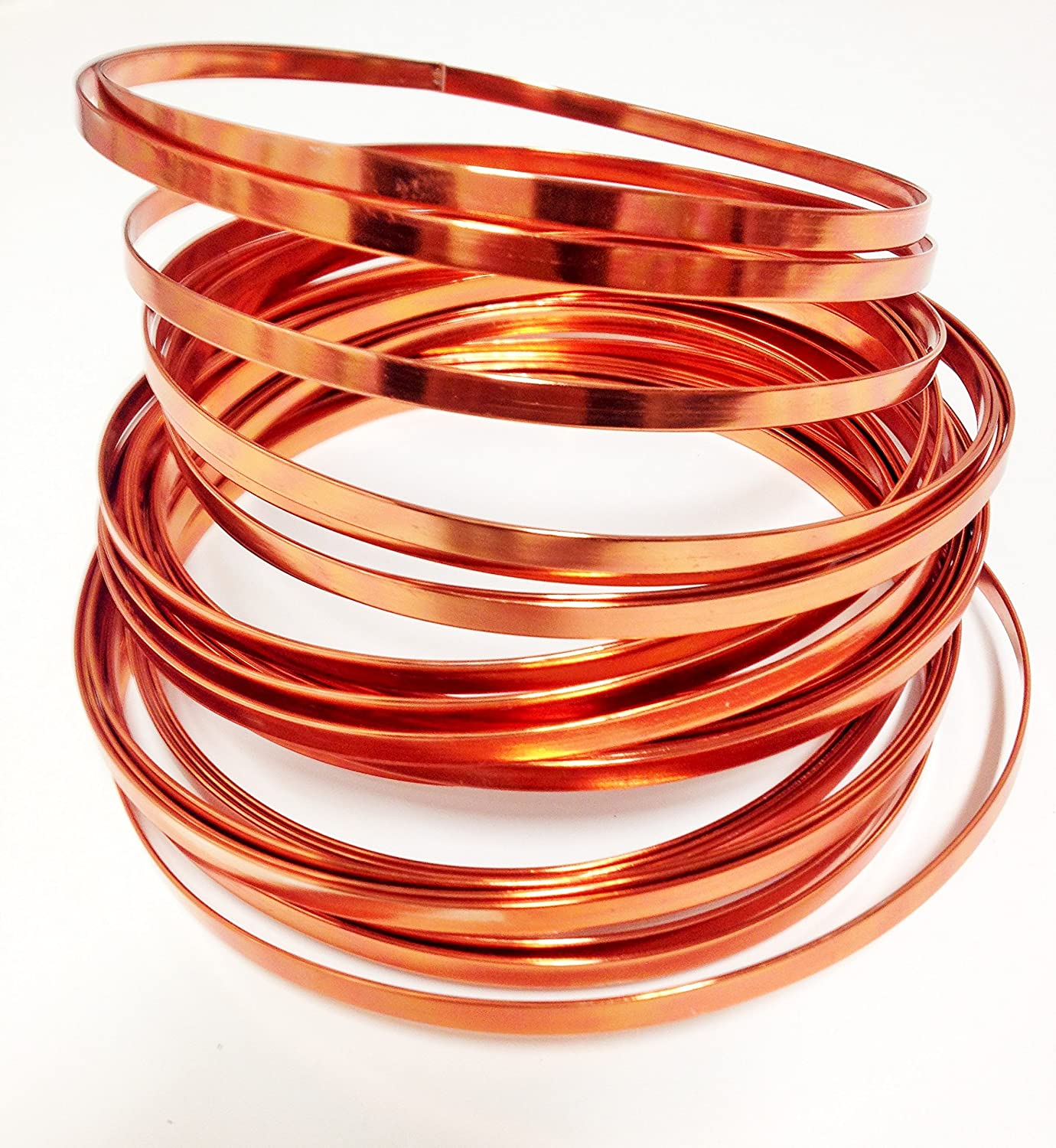 Amazon Com Flat Aluminum Wire 32ft L X 3 16in W Copper Arts Crafts Sewing