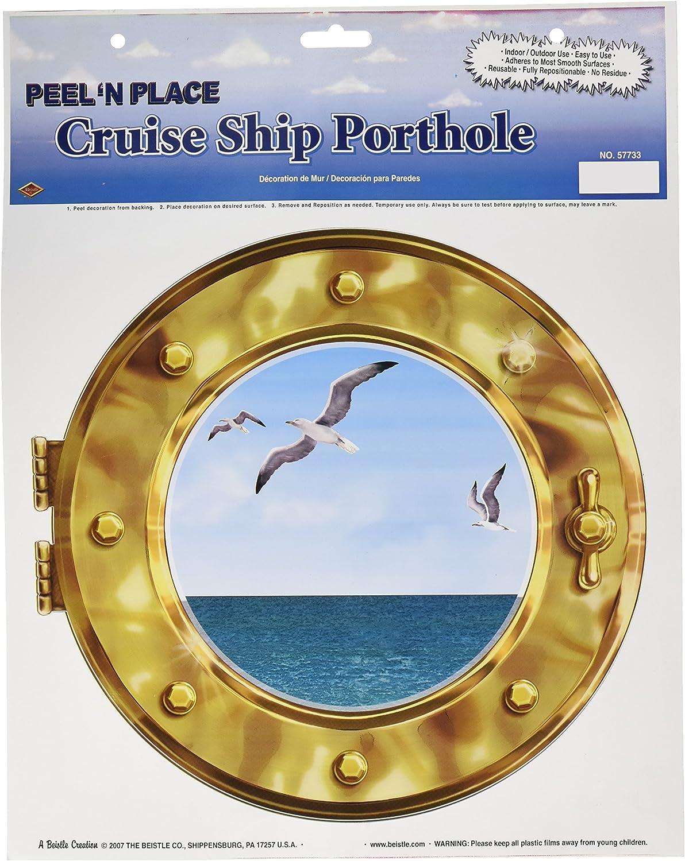 "Cruise Ship Porthole Peel 'N Place 12"" x 15"" Sh 1/Pkg"