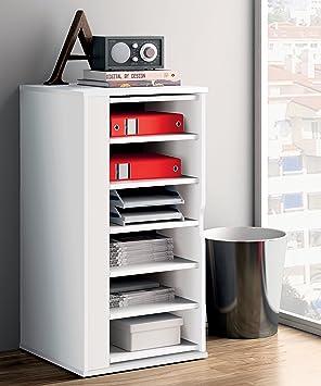 armario auxiliar zapatero multiusos giratorio color blanco brillo para de cocina oficina