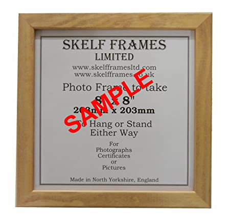 BEECH STYLE WOOD SQUARE PICTURE PHOTO FRAME (7x7): Amazon.co.uk ...