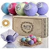 2XL Lush Bath Bombs for Sensitive Skin Adults - Deep Moisturizing Organic Fizzy Bomb Set - Naturally Relax & Feel Tension Melt Away w / 8 Long Lasting (3.5 Oz) Essential Oils Bath Bomb Gift Set