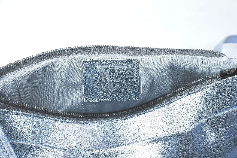 Une pochette universelle Plume 23x32 cm en cuir Daim iris/é Bleu ciel Clairefontaine 400049C