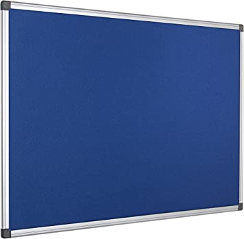 Grey Felt Aluminium Frame Bi-Office Notice Board Maya 180 x 120 cm