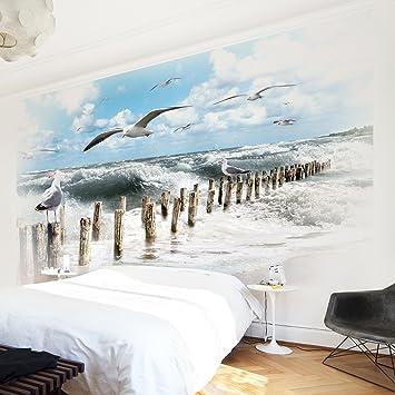 Apalis Vliestapete Nummer YK3 Absolut Sylt Fototapete Breit | Vlies Tapete  Wandtapete Wandbild Foto 3D Fototapete für Schlafzimmer Wohnzimmer Küche |  ...