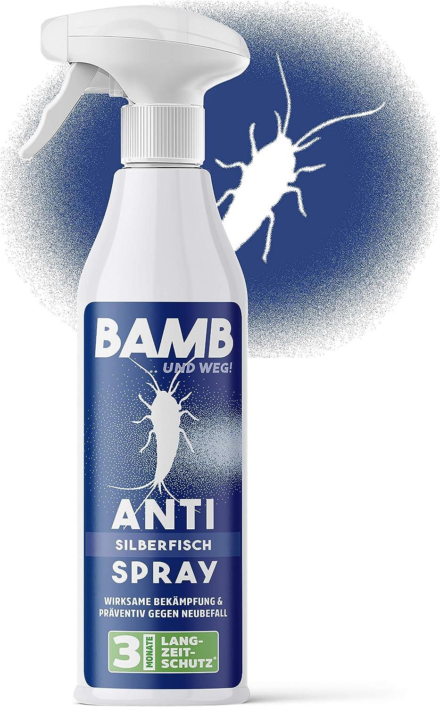 Bamb - Spray contra pececillos de plata - 500 ml de producto contra pececillos de plata en casa - Cebo para pececillos de plata y trampa alternativa