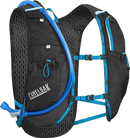fb589f2549 CamelBak Circuit Crux Reservoir Hydration Vest, Black/Atomic Blue, 1.5 L/50