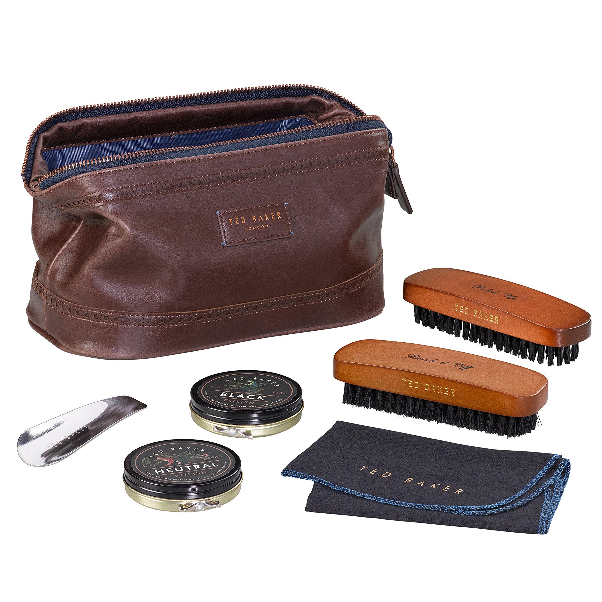 Ted Baker London Shoe Shine Care Kits & Sets (Walnut Brown)