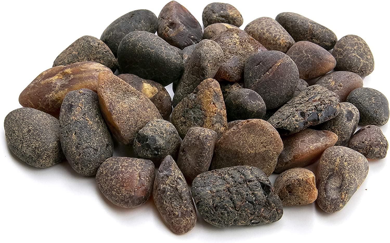 Piedras Redondas de ámbar báltico (25 Gramos), Resina de ámbar báltico, Genuino y Natural. Random Lot NTSA25