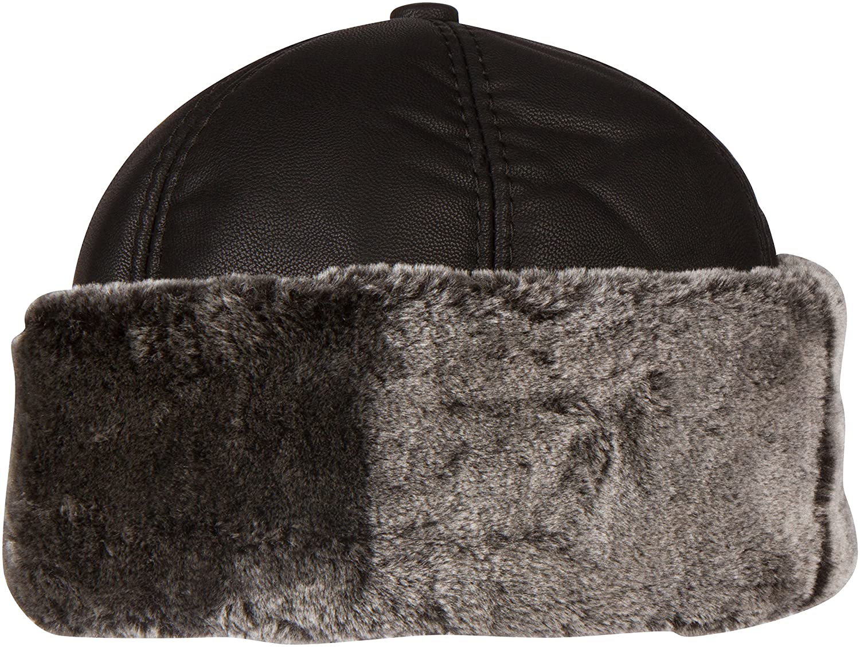 Amazon.com  Sakkas 1774 - Luca Sailing Docker Hat Beanie Convertible Water  Resistant Faux Fur Lined - Black - M  Clothing fb0d23da3cf