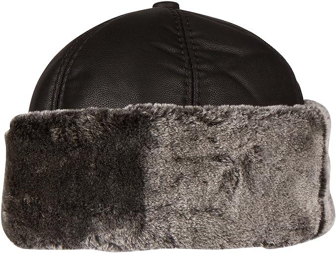 Sakkas 1774 - Luca Sailing Docker Hat Beanie Convertible Water Resistant  Faux Fur Lined - Black ee3182fe2ba