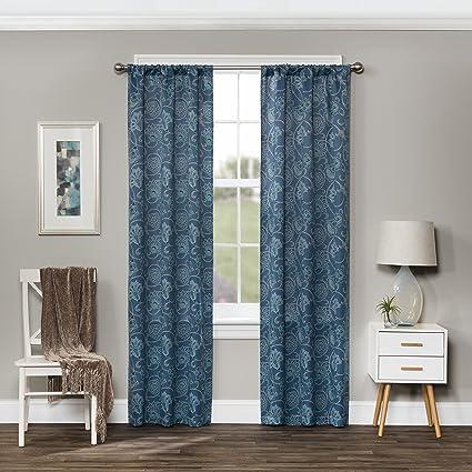 Eclipse Amara Blackout Window Curtain Panel Indigo
