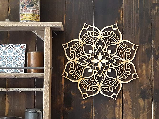 Mandala Wood Decor, Bohemian Ethnic New Home Office Décor, Tribal Indian  Art, Living
