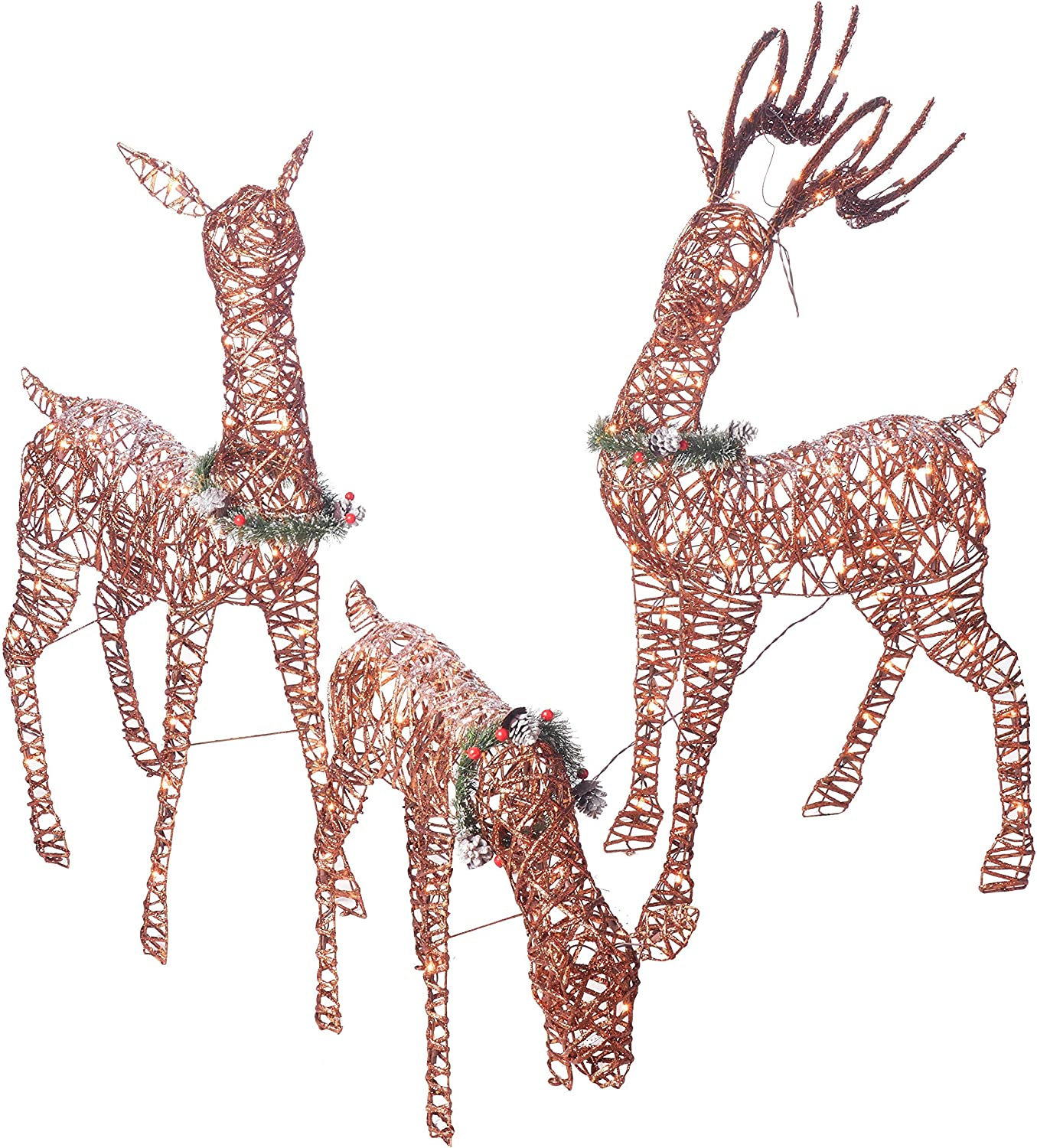 - Amazon.com : Outdoor Christmas Reindeer Family 3 Set 220 Lights