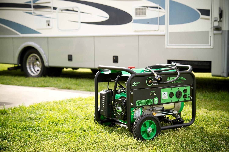 Amazoncom Champion Power Equipment 76530 2800 Running Watts 3500 196cc Wiring Diagram Starting Dual Fuel Powered Portable Generator Garden Outdoor