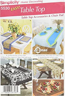 product image for Simplicity Chair Cushions, Tablecloth, Place Mats, Runners, and Napkins Sewing Pattern Set, One Size