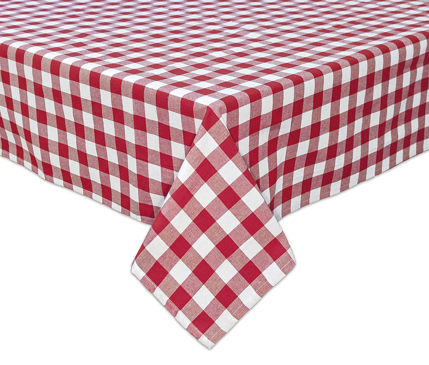 RED OR BLUE SUMMER TABLECLOTH SET  WITH 4 CLAMPS