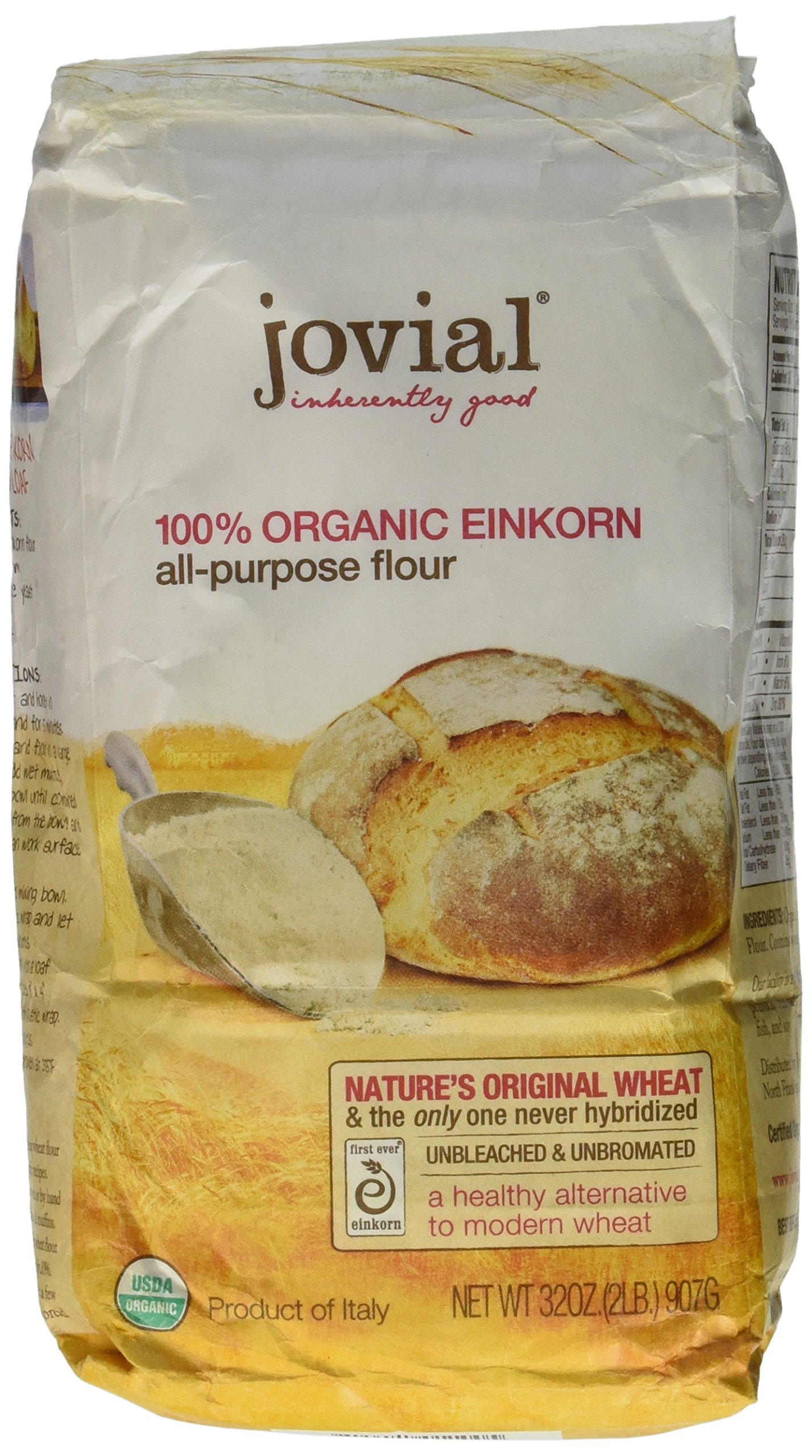 Jovial Organic Einkorn All Purpose Flour 32oz (Pack of 5) by Jovial