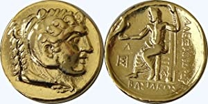 Golden Artifacts Alexander The Great Famous Greek Coin, Posthumous Issue, Unique Gift, Greek Mythology (7-G)
