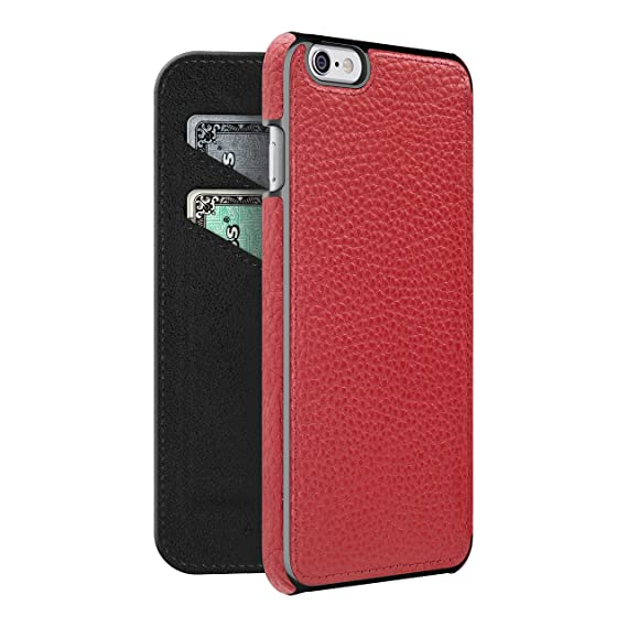 new concept ee5ae a4da9 Adopted Leather Cell Phone Case for Apple iPhone 6 Plus/6sPlus - Retail  Packaging - Cayenne/Gunmetal