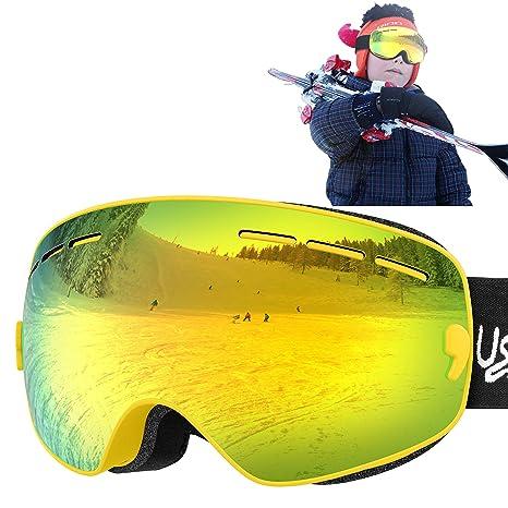 00c7106bf440 Amazon.com   UShake Kid Ski Goggles Anti Fog Lenses 100% UV Protection  Child Skiing Goggles for 3-14 Years Kids Children K3 Series   Sports    Outdoors
