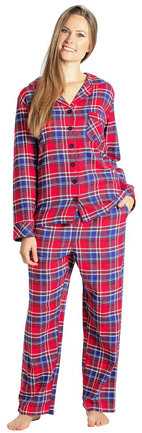 c827523d42 COZY COTTON FLANNEL PAJAMAS - This two-piece pajama set for women is made  from super fine 100% cotton flannel