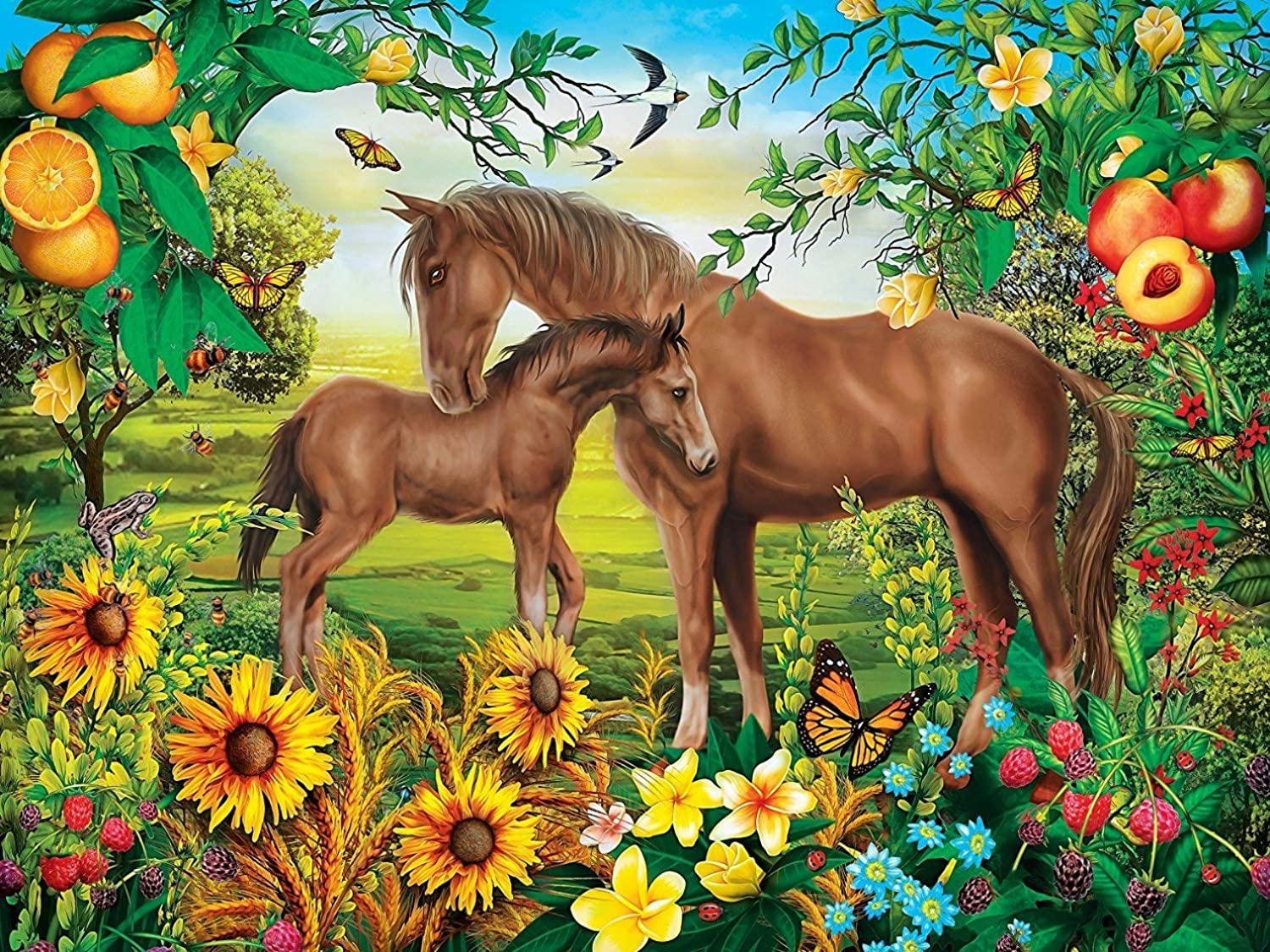 MasterPieces Green Acres  Neighs & Nuzzles 300pc EzGrip Puzzle