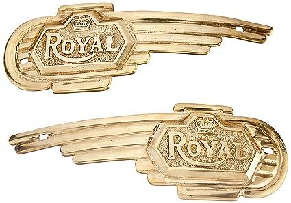 Royal Erado Side Badge for Royal Enfield (Set of 2, Brass)