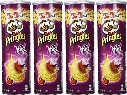 Pringles Texas BBQ Sauce, sabor barbacoa 165g, paquete de 4 ...
