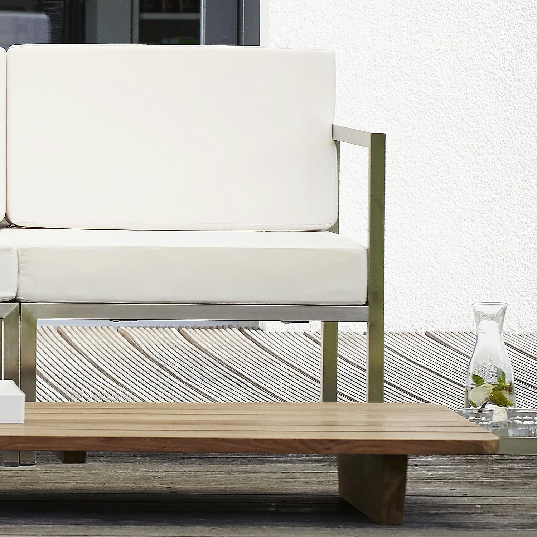 Lux Lounge Eckelement weiß 67 x 67 cm, h 62 cm
