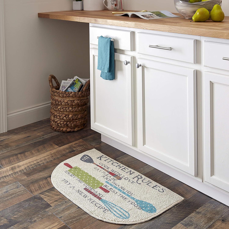 Door Mat 18 X 30 Semi Circle Kitchen Utensils Kitchen Rug Beige Kitchen Gadgets Set Of 2 With 4 Pack Microfiber Kitchen Towel Kitchen Rugs