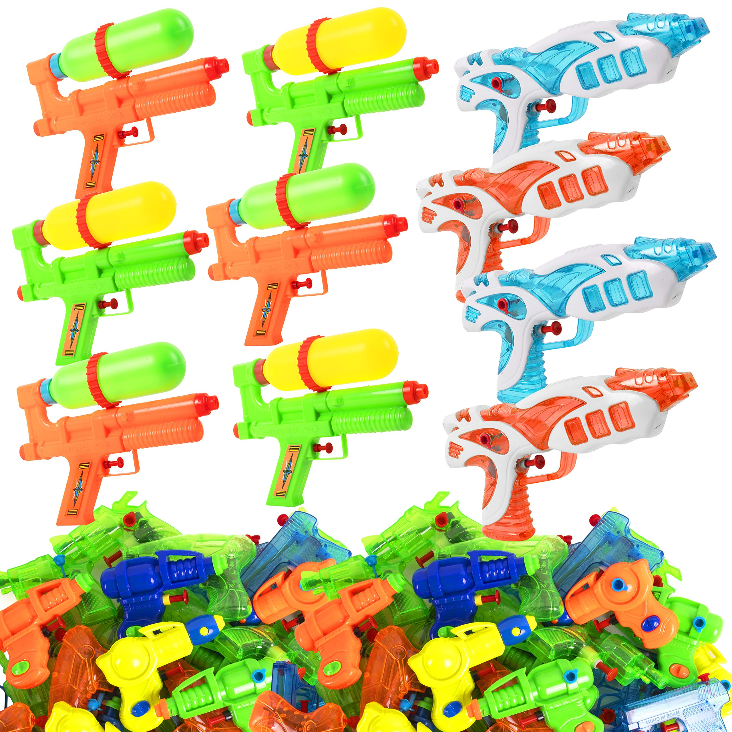 Narwhal Novelties Water Gun (50-Pack) Squirt Gun Assortment; Water Guns for Kids & Squirt Guns for Kids by Narwhal Novelties