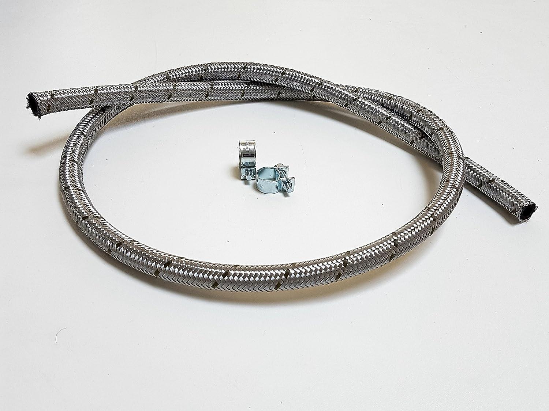 6mm x 11mm Kraftstoffschlauch Stahlflex Benzinschlauch 1Meter