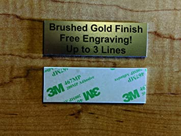 plaque shields w//adhesive backing Engraved Metal Personalised Trophy plate