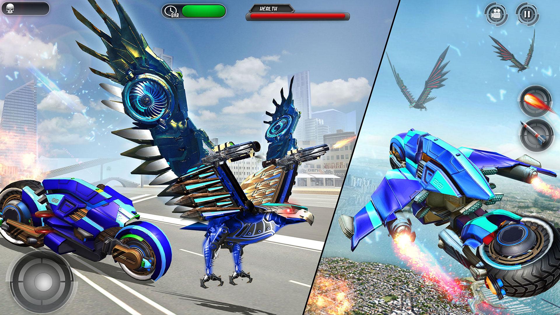 Bicicleta voladora de la policía estadounidense: Transformación de Eagle Eagle: Amazon.es: Appstore para Android