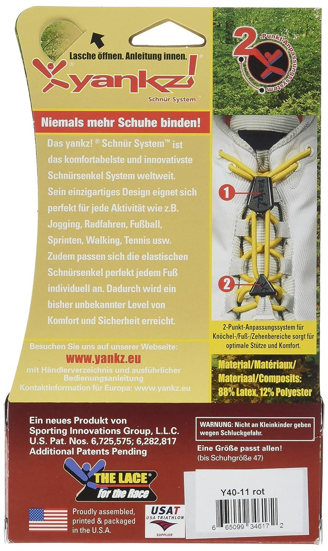 YANKZ - das Schnürstystem Yankz - Patent - Tystem Lace Red Germany ...