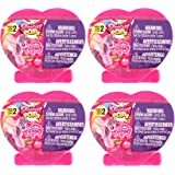 Set of 4 My Little Pony Suprise Fashems Squishy Pops - Heart shaped Capsules - Special Edition (Series 2)