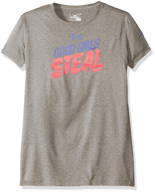 アンダーアーマーガールズGirls Steal Bases Tシャツ B018VAAQSQ Youth Small|True Gray Heather/Brilliance True Gray Heather/Brilliance Youth Small