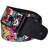 Buckle-Down Guitar Strap-Batgirl/Supergirl/Wonder Woman Poses (GS-WSG010)